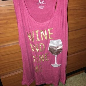 Wine and Dine Me Tank top